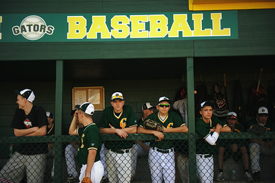 Daniel J. Murphy - dmurphy@shawmedia.com  The Crystal Lake South baseball team waits for play to begin against Conant Monday March 18, 2012 at Crystal Lake South High School in Crystal Lake. Conant defeated Crystal Lake South 3-2.