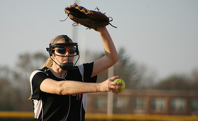 Mike Greene - For the Northwest Herald Crystal Lake Central's Sara McConnell pitches against Richmond-Burton Monday evening in Crystal Lake. The Tigers defeated the Rockets 7-6.