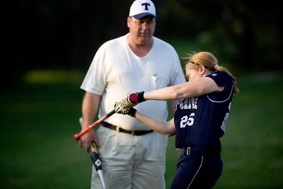 Jenny Kane - jkane@shawmedia.com Tues. March 20, 2012, The Cary-Grove's Sarah Kendeigh practices her swing prior to going into on deck during their game against James B. Conant High School.