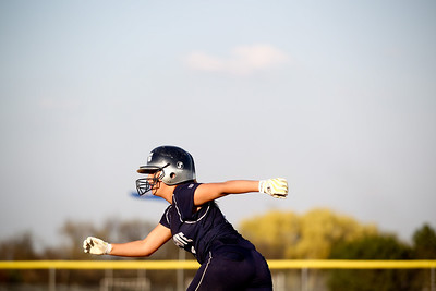 Jenny Kane - jkane@shawmedia.com Tues. March 20, 2012, The Cary-Grove Sara Markelonis leads off first base during their game against James B. Conant High School. Cary-Grove defeated Conant 5-2.