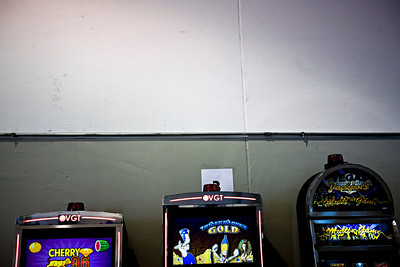 Lance Booth - lbooth@shawmedia.com A row of video gaming terminals or video lottery terminals lines a wall at Triple 7 in Lake in the Hill on Wednesday, March 21, 2012. Triple 7 hosted an expo, which showed off a variety of machines from a variety of manufactures.