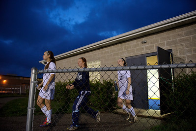 Daniel J. Murphy - dmurphy@shawmedia.com  The Cary-Grove girls soccer team takes to the field for the second half of play against Boylan Catholic Friday March 23, 2012 at Cary-Grove High School in Cary. Boylan Catholic defeated Car-Grove 2-1.