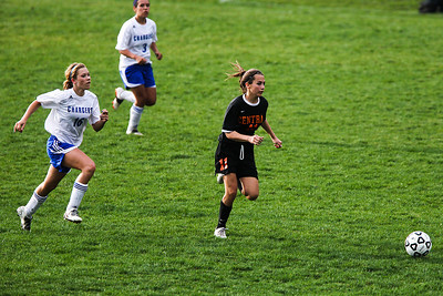Lance Booth - lbooth@shawmedia.com Crystal Lake Central's Stacie Wolfgram goes down the field to score a goal on Friday, March 23, 2012. Crystal Lake Central defeated Dundee-Crown with a final score of 4-0.