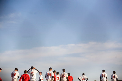 Jenny Kane - jkane@shawmedia.com Huntley's varsity baseball team gathers together after defeating DeKalb 2-1 in a non-conference game at Huntley.