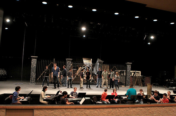 Sandy Bressner - sbressner@shawmedia.com<br /> Kaneland High School students rehearse their production of Les Miserables. Performances run March 16-18 at the school.
