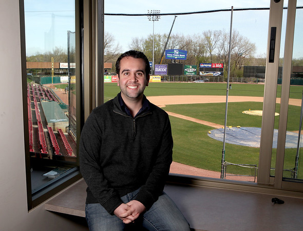 Sandy Bressner - sbressner@shawmedia.com<br /> New Cougars broadcaster Wayne Randazzo, a 2002 St. Charles East alumnus, joins the club this season after four seasons in Mobile, Ala.