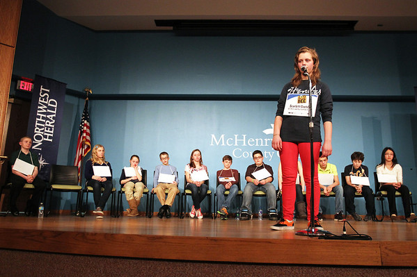 20130306 - McHenry County Spelling Bee