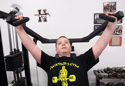 Sarah Nader - snader@shawmedia.com Cody Gaynor, 13, of Huntley trains at Swanson's Gym in Union on Saturday, March 16, 2013.