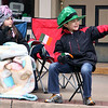 Jeff Krage — For the Kane County Chronicle<br /> Nicholas Defina, right, 8, and Alexis Neubecker, 7, both of Bartlett, watch Saturday's St. Patrick's Day parade in St. Charles.<br /> St. Charles 3/16/13