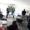 Jeff Krage – For the Kane County Chronicle<br /> Geneva mayoral candidates Bob McQuillan and Kevin Burns answer questions during Saturday's mayoral forum at Kirkwood Homeowners Association.<br /> Geneva 3/23/13