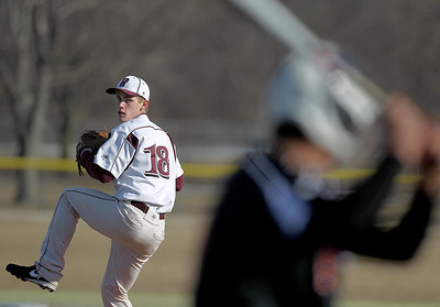 Sarah Nader - snader@shawmedia.com Prairie Ridge's pitcher Danny Burris pitches during Tuesday's game against Harlem at Lippold Park in Crystal Lake on March 26, 2013. Prairie Ridge won, 9-1.