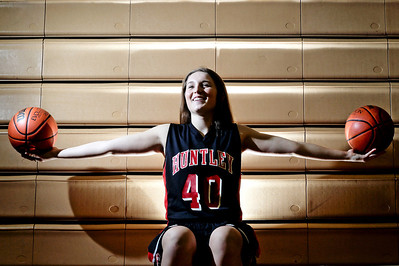 Sarah Nader - snader@shawmedia.com Huntley's forward Sam Andrews is the Northwest Herald girls basketball Player of the Year after helping led the Red Raiders to a fourth-place finish in Class 4A, the best season in school season.