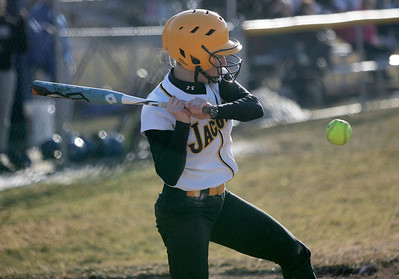 Monica Maschak - mmaschak@shawmedia.com Jacobs' Sarah Murray swings at a pitch in the fourth inning against Larkin in Elgin on Thursday, March 28, 2013. Jacobs won 10-3.