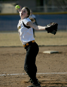 Monica Maschak - mmaschak@shawmedia.com Jacobs' Kelsey Peters pitches in a game against Larkin in Elgin on Thursday, March 28, 2013. Jacobs won 10-3.