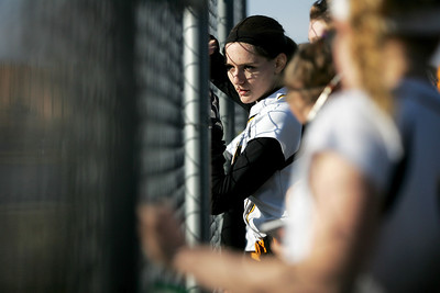 Monica Maschak - mmaschak@shawmedia.com Heather Chudy and others watch their Jacobs teammates at bat in a game against Larkin in Elgin on Thursday, March 28, 2013. Jacobs won 10-3.