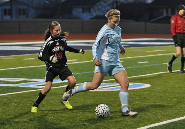 Lincoln-Way Central vs DGS, girls soccer