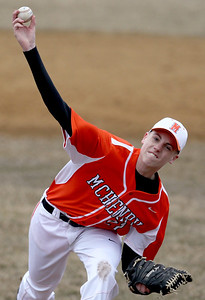 Sarah Nader - snader@shawmedia.com McHenry's Kyle Snedeker pitches during Wednesday's game against Marian Central at Peterson Park on March 27, 2013. McHenry won, 8-0.