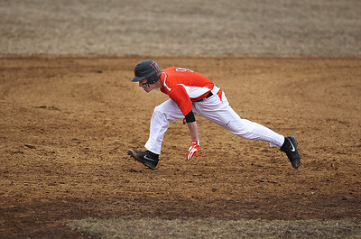 Sarah Nader - snader@shawmedia.com McHenry's Cody Freund runs to third base during Wednesday's game against Marian Central at Peterson Park on March 27, 2013. McHenry won, 8-0.