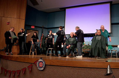 Sarah Nader - snader@shawmedia.com The St. Baldrick's Shave-A-Thon hosted by the Kiwanis Club of Crystal Lake was held at the McHenry County College on Friday, March 15, 2013. This was the fourth year the Kiwanis club raised money for Childhood Cancer Research by hosting the event.