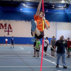 Marmion Academy's Jake Cornish practices on the pole vault in the school's new Regole Fieldhouse.(Sandy Bressner photo)