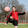 Batavia freshman Megan McEachern fields a corner kick during Friday's practice at Mooseheart. (Jeff Krage photo for the Kane County Chronicle)