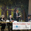 Candidates for Sugar Grove Township Trustee take the stage to answer questions during the meet the candidates night at The Sugar Grove Community House in Sugar Grove, IL on Tuesday, March 12, 2013 (Sean King for The Kane County Chronicle)