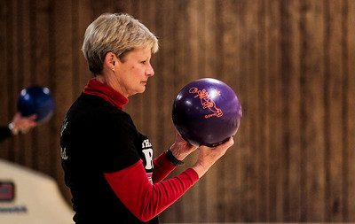 Kyle Grillot - kgrillot@shawmedia.com   Leslie Rueckert of Crystal Lake prepares to bowl Thursday night at Crystal Bowl during the Ladies Night of the Bowl for Kids' Sake fundraiser. This is the Big Brothers Big Sisters of McHenry County annual fundraiser to help children who face adversity. There are six more dates to bowl and raise money during the month of March. More information can be found at www.bbbsmchenry.org/bowl.