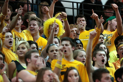 Kyle Grillot - kgrillot@shawmedia.com   Jacobs fans cheer after a scored point in the second quarter of the Class 4A Crystal Lake Central Regional final Friday, March 7, 2014. Jacobs beat Dundee-Crown, 43-33.