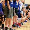 Geneva's Abby Novak crouches down while listening to instructions during practice at the school Wednesday. The Geneva girls team plays Rolling Meadows in the 4A state semifinal today in Normal.