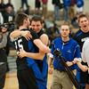 Matt Grotto - For Shaw Media<br /> <br /> Geneva's Nate Navigato (left) and Daniel Santacaterina (second from left) celebrate their team's 66-63 win over Bolingbrook at Plainfield East High School Friday, March 7, 2014, in Plainfield, Ill.