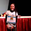 Anika Patel, a student at Cambridge Lakes Charter School in Gilberts, reacts to correctly spelling the final word to win the 2014 Kane County Spelling Bee Thursday at the Pheasant Run Resort Main Stage in St. Charles.