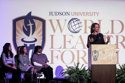 "Sarah Nader- snader@shawmedia.com Dr. Condoleezza Rice was the keynote speaker during the fourth annual Worlds Leaders Forum at Judson University in Elgin Wednesday, March 19, 2014. Dr. Rice spoke about ""The United States in a Changing World,""  followed by a Q&A session at the event."