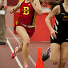 Natalie Mueller of Batavia competes in the finals for the 800 meter run at Batavia High School at Batavia High School during the girls indoor track and field championships March 22.
