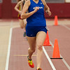 Stephanie England of St. Charles North finishes first in the 800 meter dash at Batavia High School during the girls indoor track and field championships March 22.