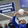 Jeff Krage – For Shaw Media<br /> St. Francis' Robert Smith warms up before Wednesday's match against visiting Bartlett.<br /> Wheaton 3/26/14