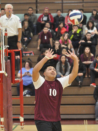 Riverside Brookfield at Morton boys volleyball