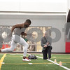Sam Buckner for Shaw Media.<br /> Tommylee Lewis runs a 40 yard dash in front of NFL scouts at NIU's Pro Day on Friday March 11, 2016.