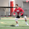Sam Buckner for Shaw Media.<br /> Andrew Ness does drills in front of NFL scouts at NIU's Pro Day on Friday March 11, 2016.