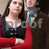 Sam Buckner for Shaw Media.<br /> Merri Bork (Nancy) glares at Jacob Ihm (Bill) in rehearsal for the Children's Community Theatre presentation of Oliver on Tuesday March 1, 2016.
