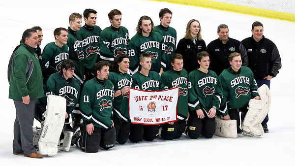 Crystal Lake South took second place in Friday's Blackhawk Cup White State Tournament championship at the Edge Ice Arena in Bensenville.