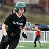 Glenbard West's Katherine Porter heads for the third base during game one of a doubleheader against visiting Batavia on March 24. The Hilltoppers lost game one 7-2.