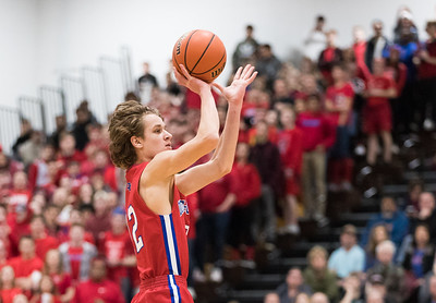 Whitney Rupp for Shaw Media Dundee-Crown's Joshua Raby takes a shot in the first quarter of the Class 4A sectional semifinal against Rockford Jefferson Wednesday, March 7.
