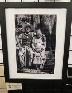 "Candace H. Johnson-For Shaw Media A black and white portrait of a couple titled, ""El Matrimonio"" Mexico, by Patricia Solano, of Vernon Hills was on display during the Grayslake Arts Alliance Fine Art Show to highlight the Illinois Bicentennial Celebration at the Grayslake Heritage Center & Museum on Hawley Street in Grayslake."