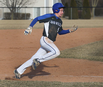 Candace H. Johnson-For Shaw Media Warren's Sam Deluca heads towards home plate against Grayslake North in the fourth quarter at Warren Township High School in Gurnee. Warren won 5-1.(3/19/18)