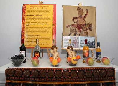Candace H. Johnson-For Shaw Media Different wines made with all natural ingredients including wines made with ginger and other wines made with mango were on display and bottled at the warehouse of Healy's Winery in Lake Villa.(3/26/18)