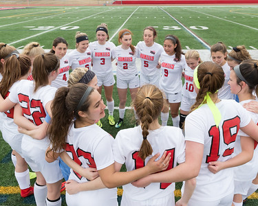Huntley's girls soccer team prepares to take the field Wednesday, March 28, 2018 against Elgin in Huntley. Huntley went on to win 3-0.  KKoontz- For Shaw Media