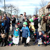 Families wait for the annual St. Charles St. Patrick's Day Parade to begin on March 10.
