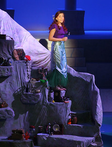 "Candace H. Johnson-For Shaw Media Maddy Dunsworth, as Ariel, sings, ""Part of Your World,"" during a performance of The Little Mermaid at Lakes Community High School in Lake Villa. The musical was presented by the Lakes Community High School Department of Fine Arts. Additional performances of the Little Mermaid will take place March 8th & 9th at 7 pm. and March 9th, at 2 pm. (3/3/19)"