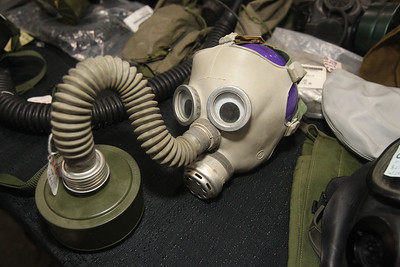 Candace H. Johnson-For Shaw Media A Soviet Union children's gas mask from the mid-1970's was on display and for sale at The Prepper Stop booth during the Survival & Green Living Expo at the Lake County Fairgrounds in Grayslake. (3/10/19)