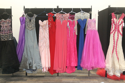 Candace H. Johnson-For Shaw Media Donated dresses from the community and Gipper Formal were on display for girls to choose from for free at the Prom Shoppe in the Wauconda Area Library. (3/23/19)